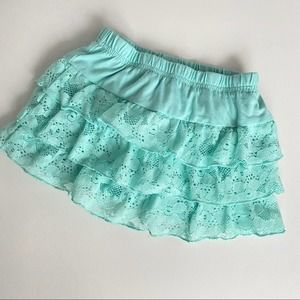 🌈 5 for $25 Teal Tiered skirt Sz 24